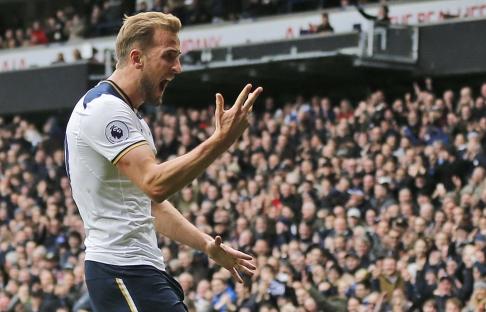 Kane-trippel sikret seier for Tottenham