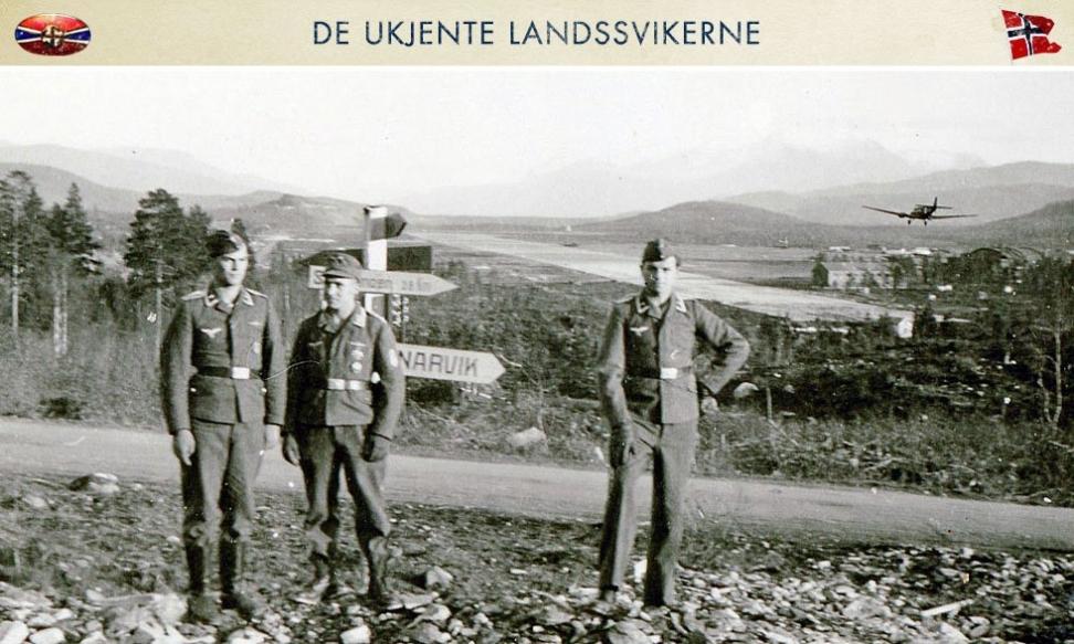 Tyske soldater ved Bardufoss flyplass i 1940. Denne var ekstremt viktig i blant annet luftangrepene på allierte skipskonvoier langs norskekysten til Murmansk. Flyplassen ble ryddet og utbygd av flere norske firma som ble økonomisk straffet etter krigen. Foto: Edvard Noer Bjørges Fotosamling
