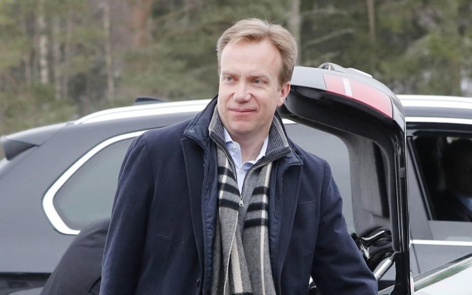 Utenriksminister Børge Brende under regjeringens budsjettkonferanse. Foto: Lise Åserud / NTB scanpix