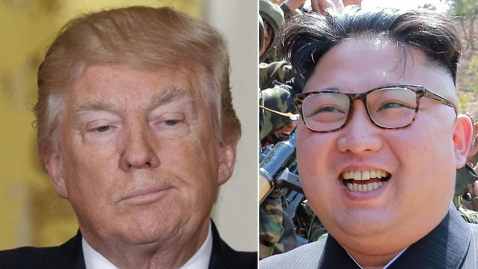UBEREGNELIG: USA president Donald Trump er mer uberegnelig enn Nord-Koreas diktator Kim Jong-un . Foto: AP / Reuters / NTB scanpix